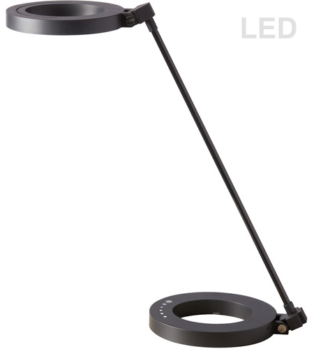 Dainolite DLED-202T-BK Signature 16 inch 8.5 watt Matte Black Desk Lamp Portable Light