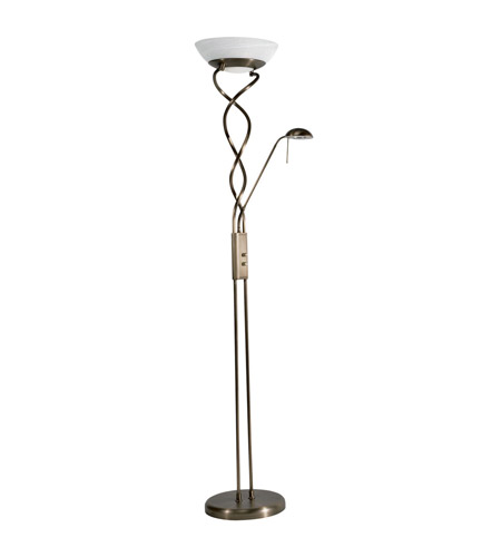 Dainolite Lighting Halogen 3 Light Floor Lamp in New Antique Brass  DLHA632-NAB photo