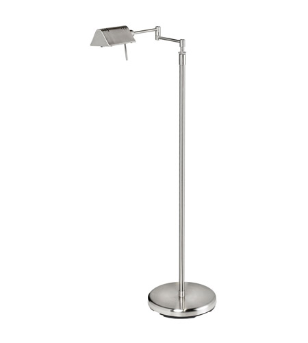 Dainolite Lighting Swing-Arm 1 Light Floor Lamp in Satin Chrome  DLHA654F-SC photo