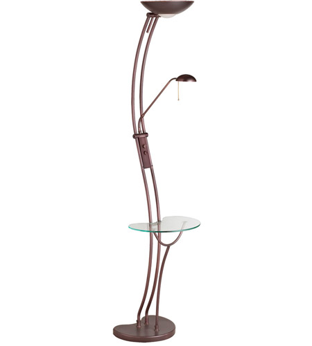 Dainolite Lighting Halogen 3 Light Floor Lamp in Oil Brushed Bronze  DLHA831-F-OBB photo