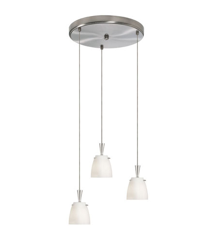 Dainolite Lighting Round 3 Light Pendant in Satin Chrome  DLSL221-12R-WH-SC photo