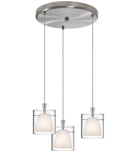 Dainolite Lighting Round 3 Light Pendant in Satin Chrome  DLSL309-12R-WH-SC photo