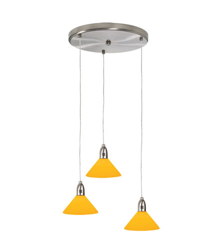 Dainolite Lighting Round 3 Light Pendant in Satin Chrome  DLSL401-12R-AM-SC photo