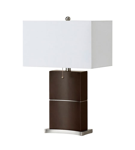 Dainolite Lighting Wood 1 Light Table Lamp in Espresso  DM2026-ES photo