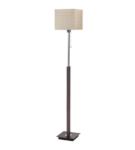 Dainolite Lighting Leather Wrapped 1 Light Floor Lamp in Brown  DM506-F-BE photo
