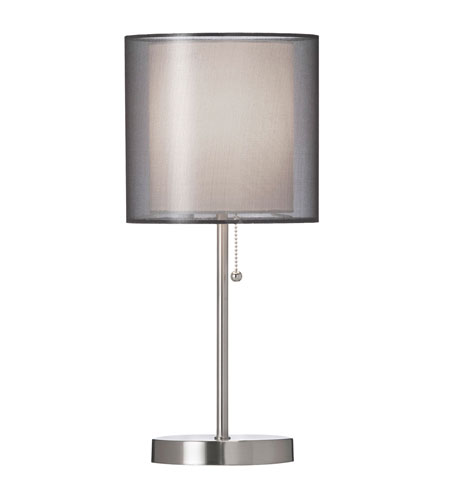 Dainolite Lighting Organza 1 Light Table Lamp in Black  DM906-BK photo