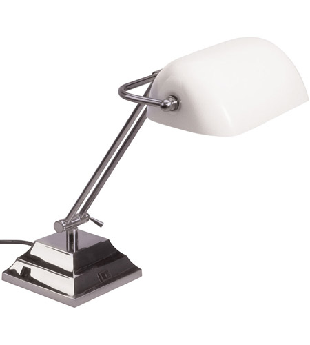 Dainolite Lighting Banker 1 Light Table Lamp in Satin Chrome  DMBL618-SC photo