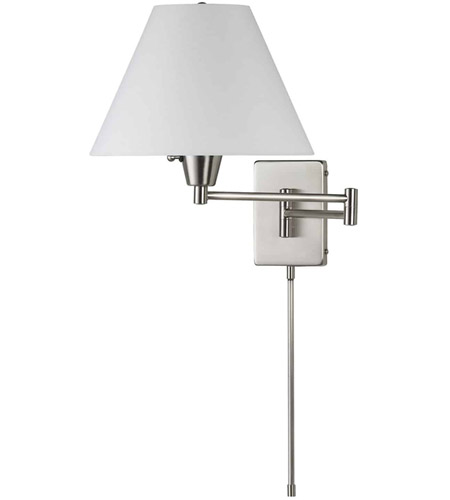 Dainolite Lighting Swing-Arm 2 Light Wall Lamp in Satin Chrome  DMWL800-SC photo