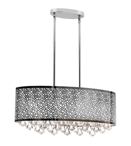 Dainolite Lighting Crystal 6 Light Chandelier in Polished Chrome  DOM-8587C-PC photo