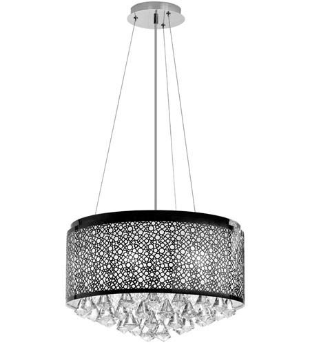 Dainolite Lighting Crystal 6 Light Chandelier in Polished Chrome  DOM-8588C-PC photo