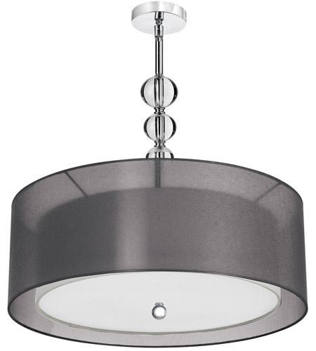Dainolite Lighting Crystal Organza 4 Light Pendant in Polished Chrome  DT590-28-4-PC-BK photo