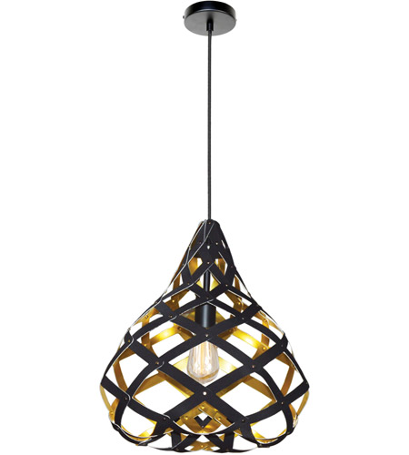Dainolite HER-15P-698 Hershey LED 15 inch Matte Black Pendant Ceiling Light photo thumbnail