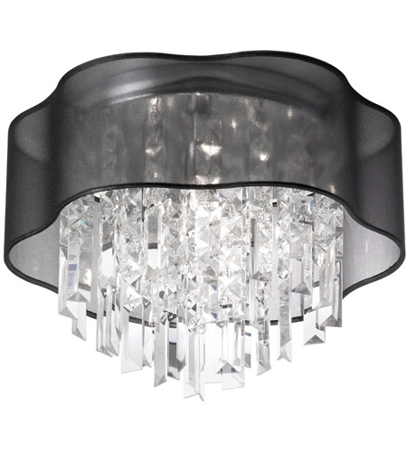 Dainolite ILL-133FH-PC-815 Illusion 3 Light 13 inch Polished Chrome Chandelier Ceiling Light photo