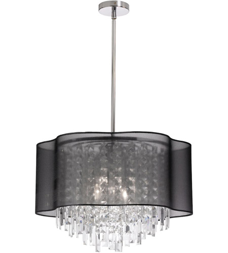 Dainolite Lighting illusion 4 Light Chandelier in Polished Chrome  ILL-144C-PC-815 photo