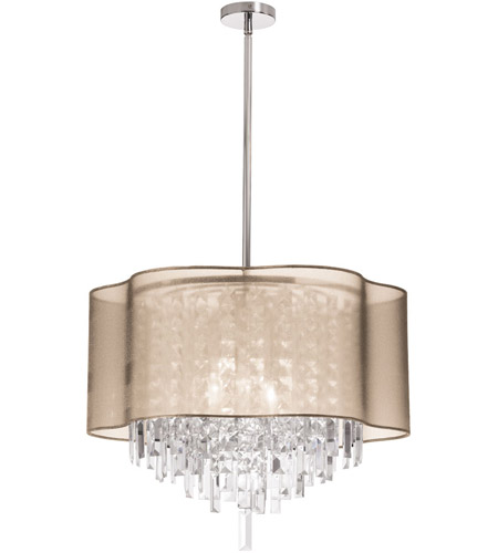 Dainolite Lighting Illusion 6 Light Chandelier in Polished Chrome  ILL-206C-PC-811 photo