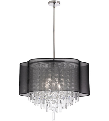 Dainolite ILL-206C-PC-815 Illusion 6 Light 20 inch Polished Chrome Chandelier Ceiling Light photo