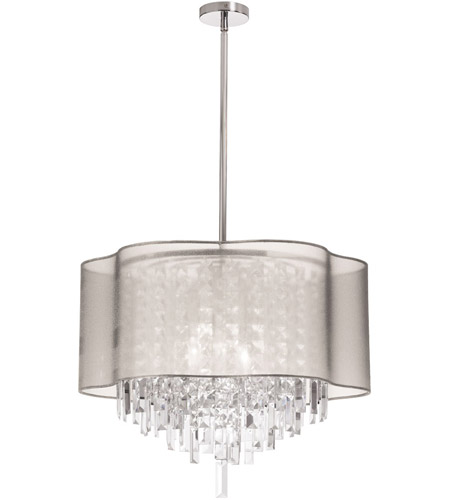 Dainolite ILL-206C-PC-817 Illusion 6 Light 20 inch Polished Chrome Chandelier Ceiling Light photo