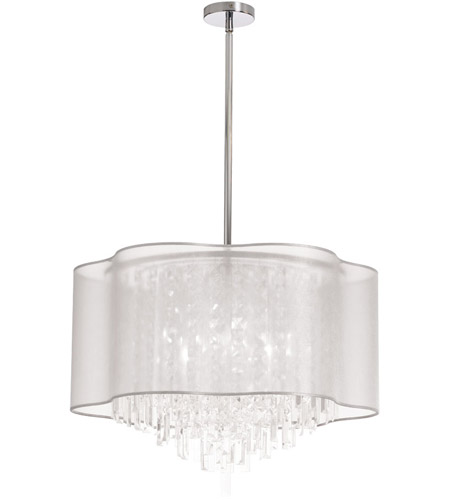 Dainolite Lighting Illusion 6 Light Chandelier in Polished Chrome  ILL-206C-PC-819 photo