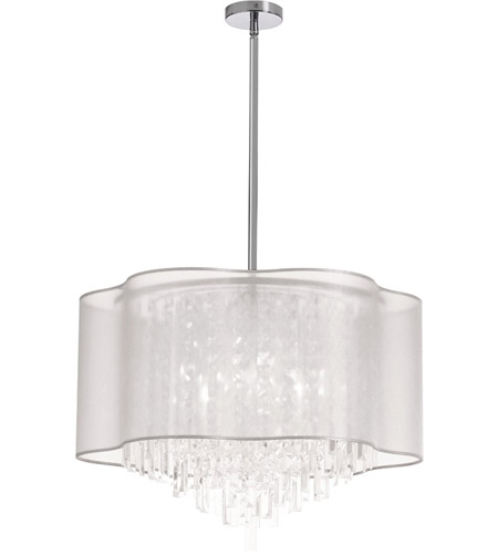 Dainolite ILL-258C-PC-819 Illusion 8 Light 25 inch Polished Chrome Chandelier Ceiling Light photo
