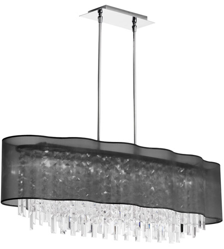 Dainolite Lighting Illusion 8 Light Chandelier in Polished Chrome  ILL-408C-PC-815 photo