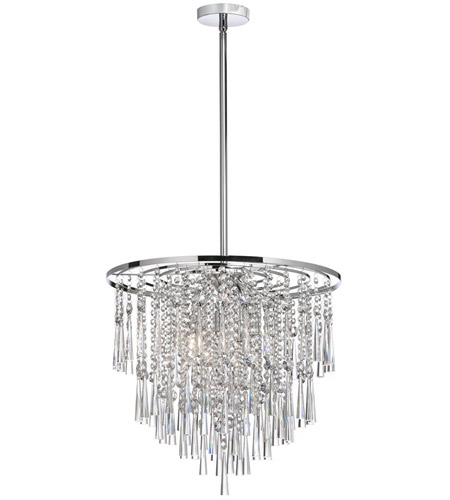 Dainolite Lighting Crystal 8 Light Chandelier in Polished Chrome  JOS-120-8-PC photo