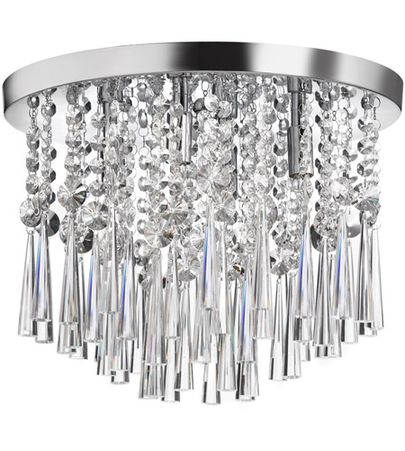 Dainolite Lighting Crystal 4 Light Flush-Mount in Polished Chrome  JOS-14-4-FH-PC photo