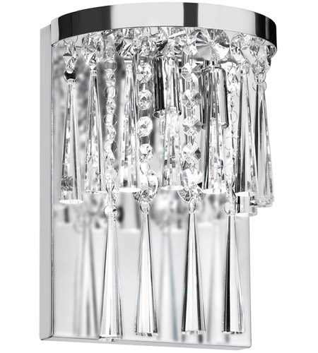 Dainolite JOS-7-2W-PC Crystal 2 Light 5 inch Polished Chrome Wall Lamp Wall Light photo
