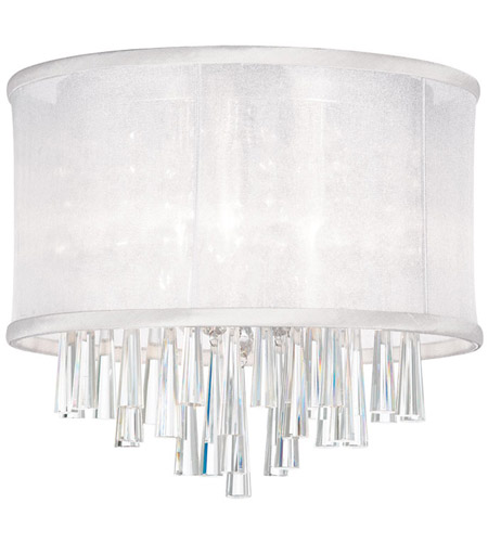 Dainolite JOS103FH-PC-119 Josephine 3 Light 12 inch Polished Chrome Flush Mount Ceiling Light photo