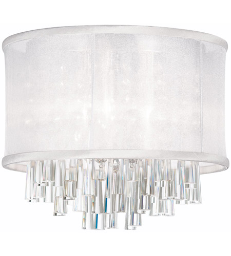 Dainolite JOS144FH-PC-119 Josephine 4 Light 16 inch Polished Chrome Flush Mount Ceiling Light photo
