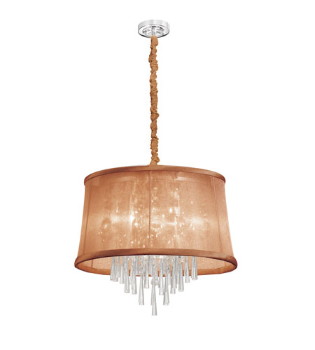 Dainolite Lighting Silk Glow Crystal 6 Light Chandelier in Polished Chrome  JUL-22-6-PC-110 photo