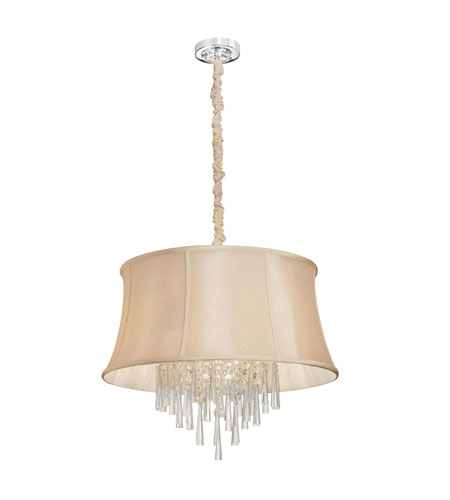 Dainolite Lighting Silk Glow Crystal 6 Light Chandelier in Polished Chrome  JUL-22-6-PC-139 photo