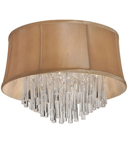Dainolite JUL143FH-PC-138 Julia 3 Light 14 inch Polished Chrome Flush Mount Ceiling Light photo