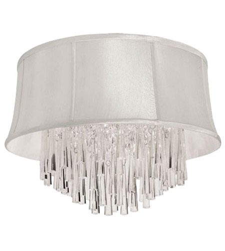 Dainolite JUL143FH-PC-140 Julia 3 Light 14 inch Polished Chrome Flush Mount Ceiling Light photo