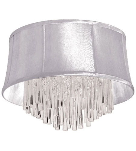 Dainolite JUL184FH-PC-119 Julia 4 Light 18 inch Polished Chrome Flush Mount Ceiling Light photo