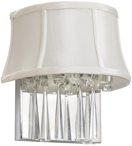 Dainolite Julia 2 Light Sconce in Polished Chrome with Silk Glow Pearl Shade JUL92W-PC-140 photo