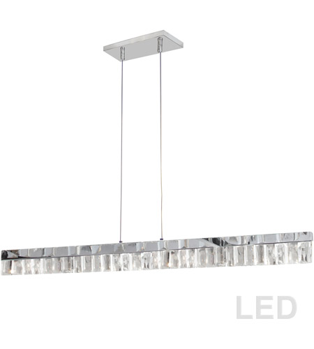 Dainolite Kim 35hp Pc Kimberly Led 35 Inch Polished Chrome Horizontal Pendant Ceiling Light
