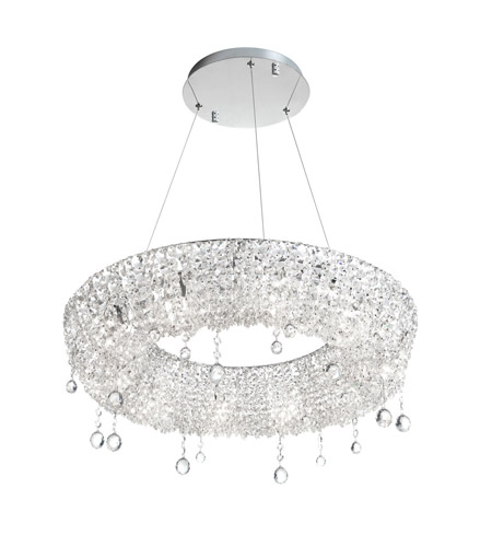 Dainolite Lighting Luxe 10 Light Chandelier in Polished Chrome  LUX-2610C-PC photo