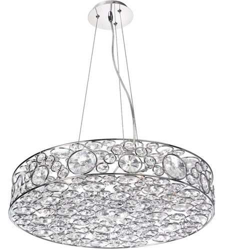 Dainolite Lynda 8 Light Chandelier in Polished Chrome LYN-228C-PC photo