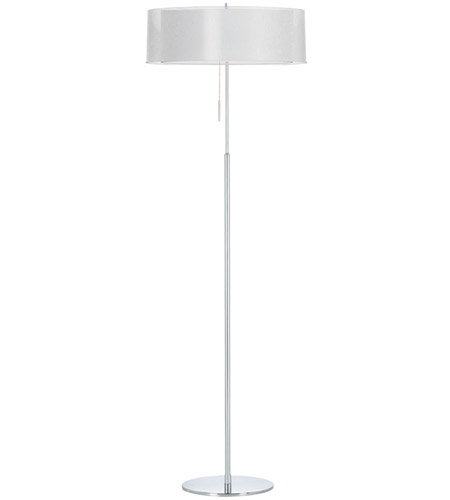 Dainolite Lighting Melissa 2 Light Floor Lamp in Polished Chrome  MEL-20FL-PC-WH photo