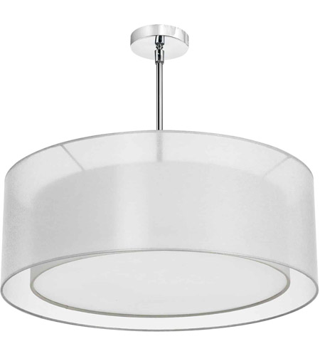 Dainolite MEL307-819-790-PC Melissa 4 Light 30 inch Polished Chrome Chandelier Ceiling Light photo
