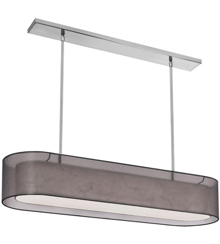 Dainolite Melissa 4 Light Pendant in Satin Chrome with Black Lam Organza Shade MEL448-SC-815 photo