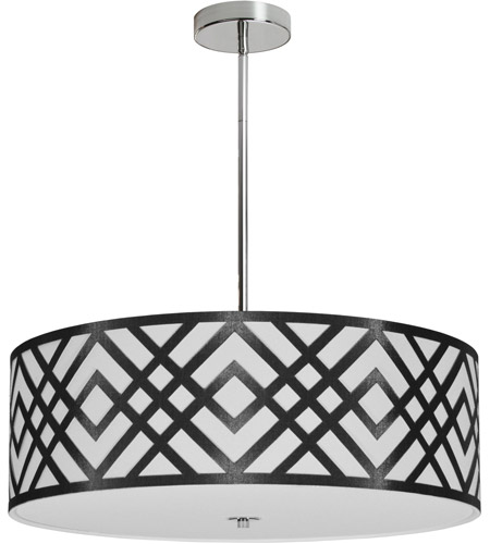 Dainolite MON-244P-PC-BW Mona LED 24 inch Polished Chrome Pendant Ceiling Light photo thumbnail