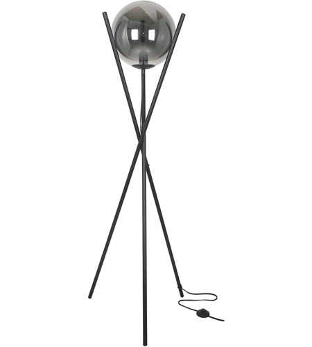 Dainolite PAM-601F-MB Pamela 60 inch 40 watt Matte Black Floor Lamp Portable Light photo thumbnail