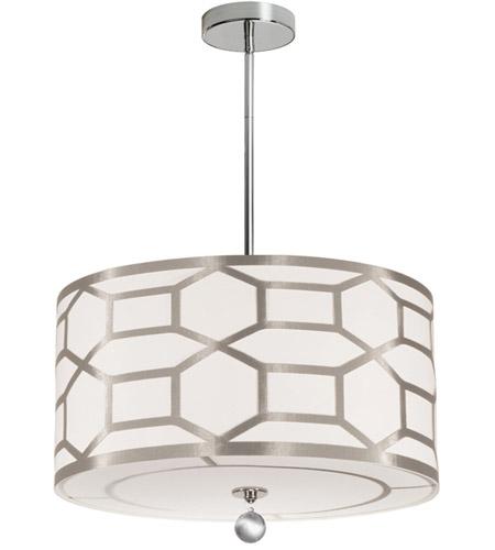 Dainolite Pem 194p Pc Wg Pembroke 4 Light 19 Inch Polished Chrome Pendant Ceiling