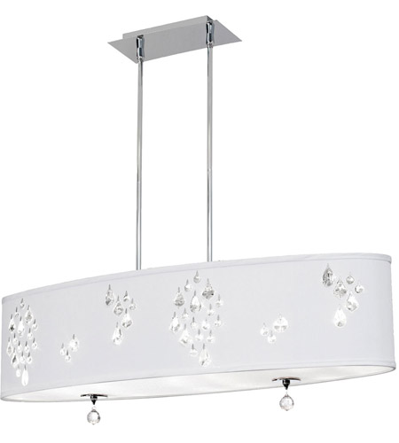 Dainolite RHI-388C-PC-693 Rhiannon 8 Light 12 inch Polished Chrome Pendant Ceiling Light photo