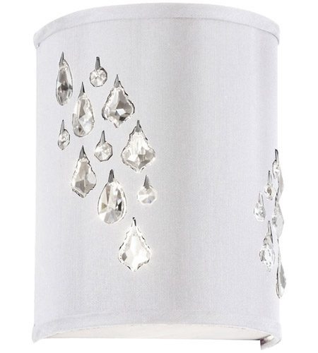 Dainolite RHI-8L-2W-693 Rhiannon 2 Light 5 inch Polished Chrome Sconce Wall Light photo