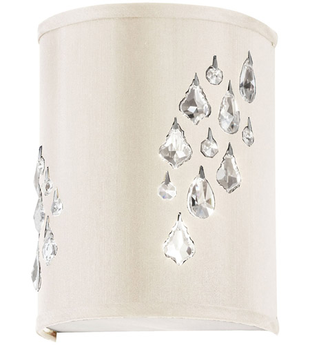 Dainolite Rhiannon 2 Light Sconce in Polished Chrome with Ivory Baroness Shade RHI-8R-2W-695 photo