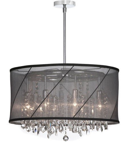 Dainolite Lighting Saffron 8 Light Chandelier in Polished Chrome  SAF-22-8-1514 photo