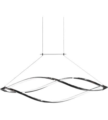 Dainolite sel 43hp pc selene led 43 inch polished chrome horizontal dainolite sel 43hp pc selene led 43 inch polished chrome horizontal pendant ceiling light swooped arms mozeypictures Images