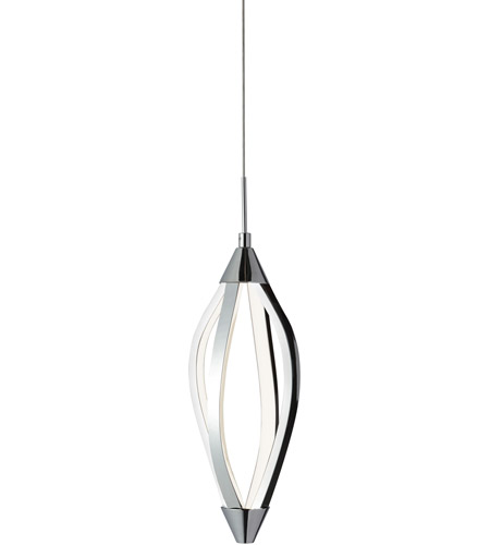 Dainolite sel 6p pc selene led 6 inch polished chrome horizontal dainolite sel 6p pc selene led 6 inch polished chrome horizontal pendant ceiling light swooped arms mozeypictures Images
